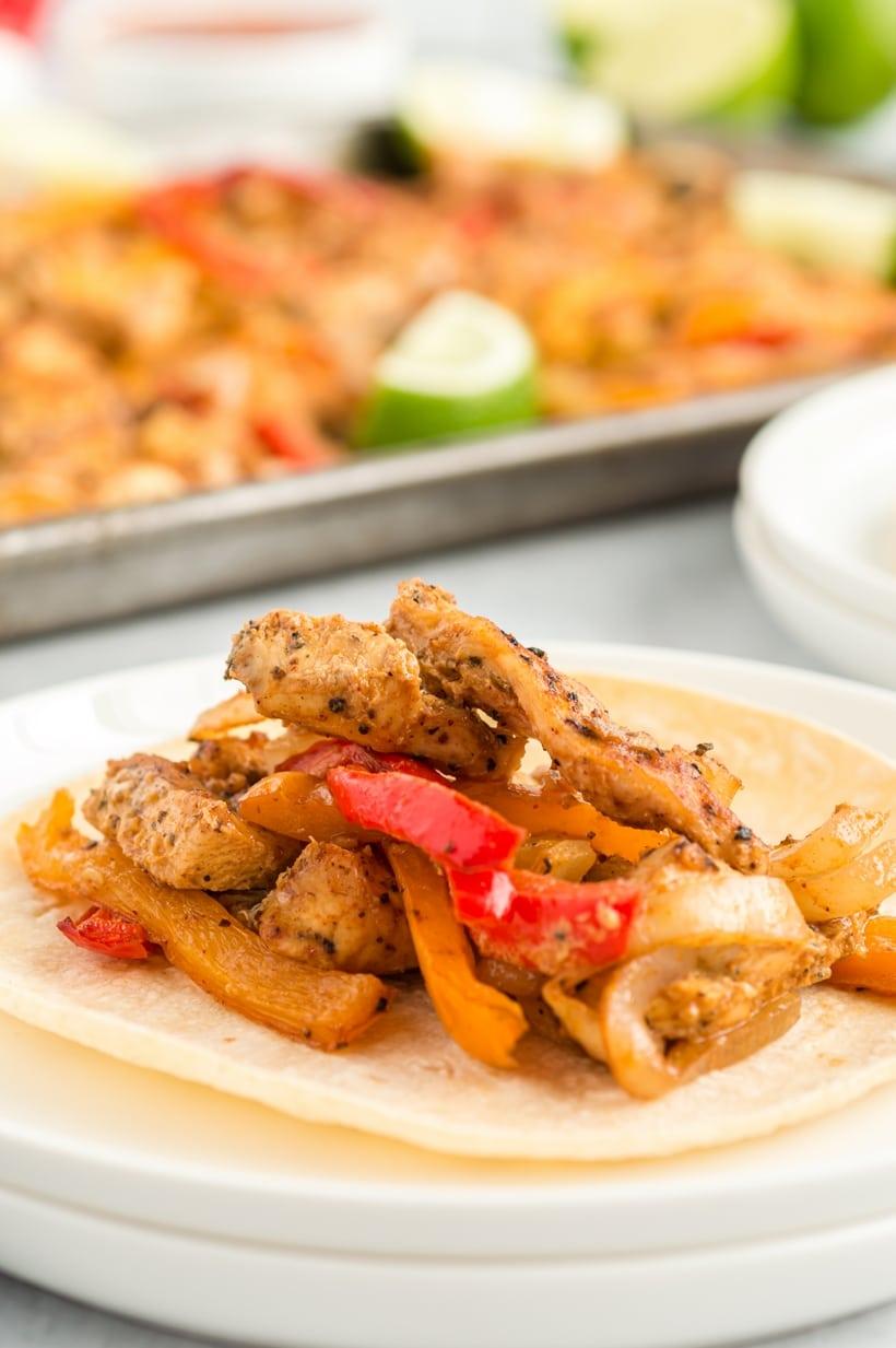 easy chicken fajitas in the oven