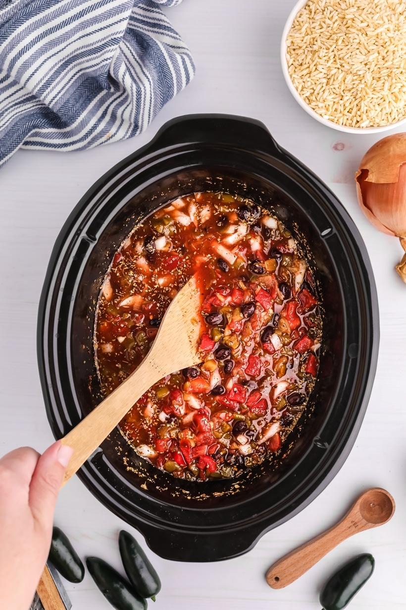 crock pot chicken burrito bowls