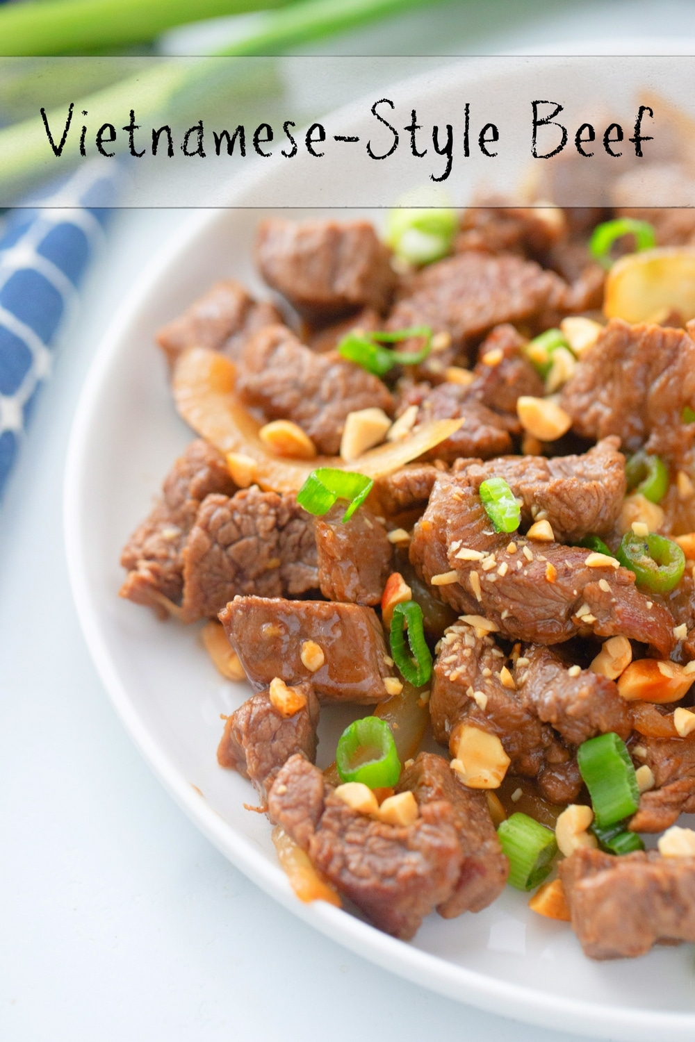 Vietnamese-Style Beef - an easy and absolutely delicious weeknight meal you need to feed your family! All the flavors, both sweet and savory, of garlic, pepper and lime come shining through. via @cmpollak1