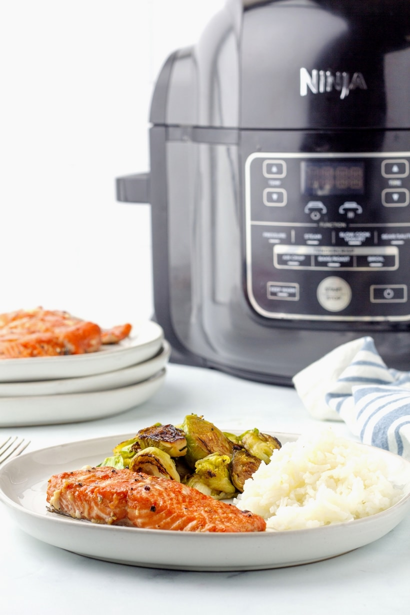 air fryer salmon dinner