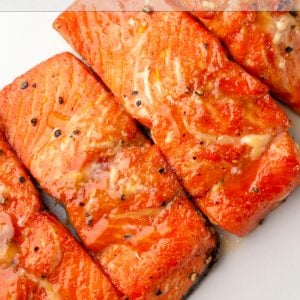 Maple glazed air fryer salmon