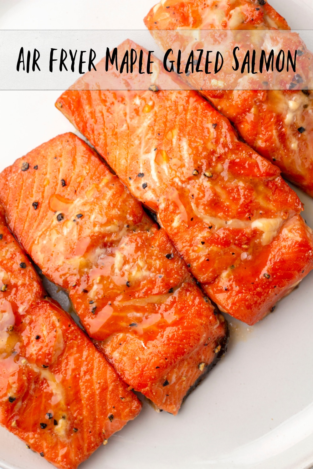 The most delicious air fryer salmon with a mouthwatering maple glaze. If you love seafood with savory-sweet flavor, this recipe is for you. via @cmpollak1