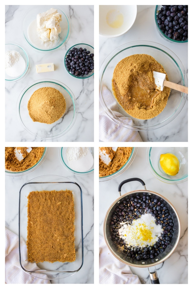 ingredients for blueberry bars