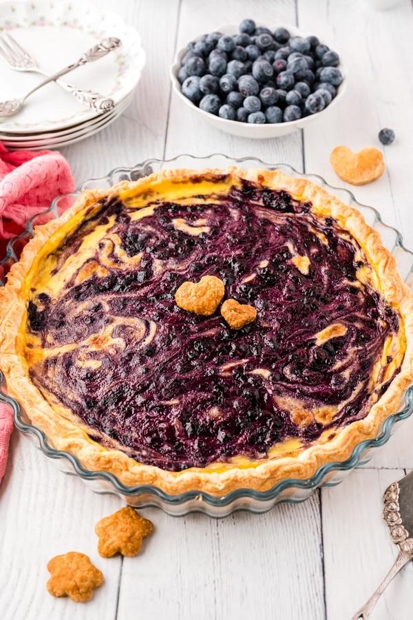 blueberry pudding tart