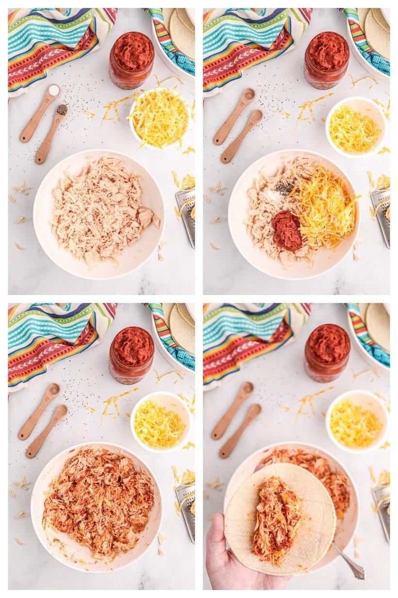 ingredients chicken enchiladas