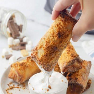 Air Fryer S'mores Egg Rolls