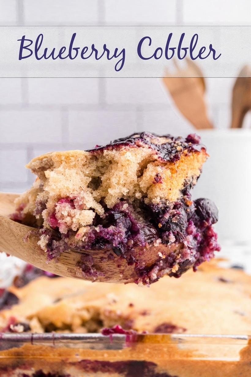 scoop blueberry cobbler