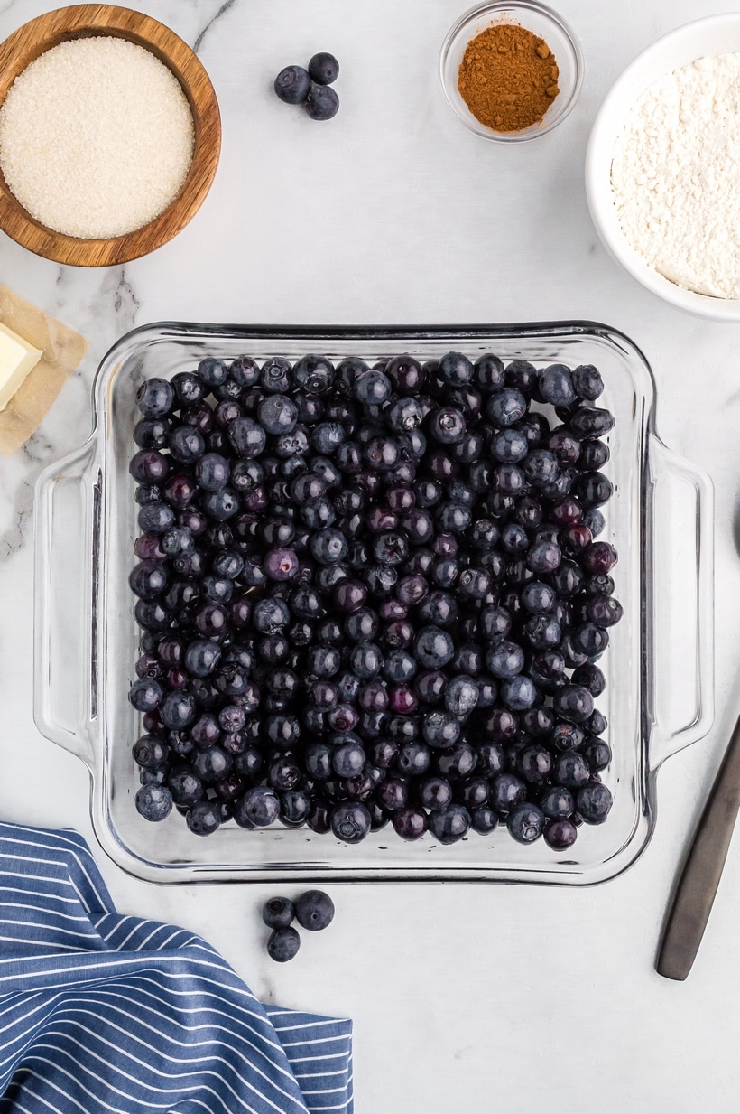 ingredients for blueberry cobbler
