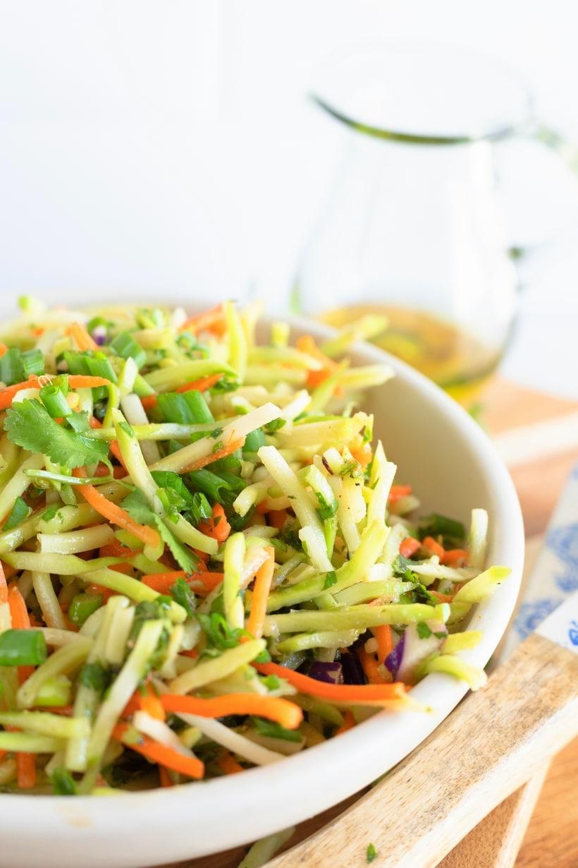 cilantro lime broccoli slaw