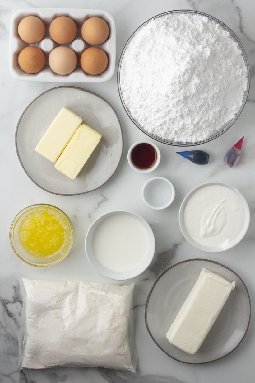 flag cake ingredients