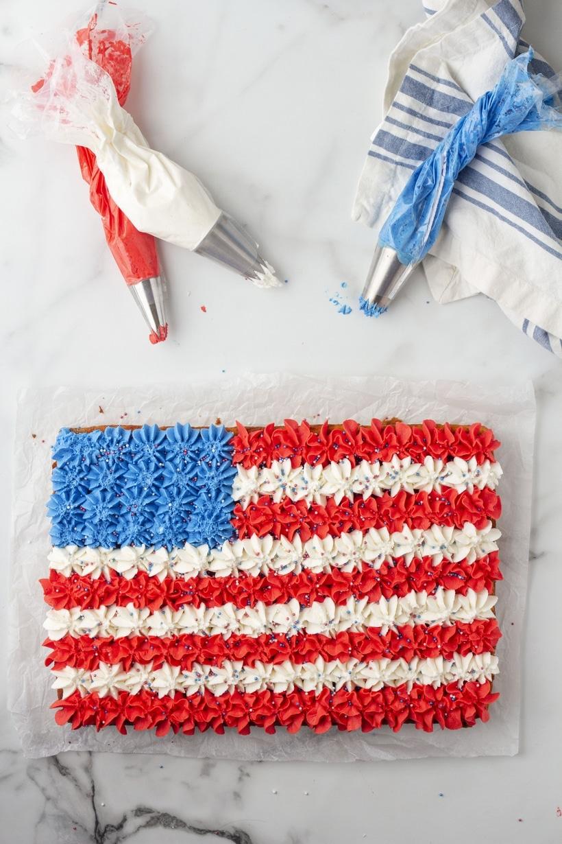 festive flag cake