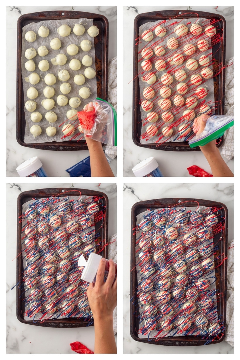 red white and blue oreos