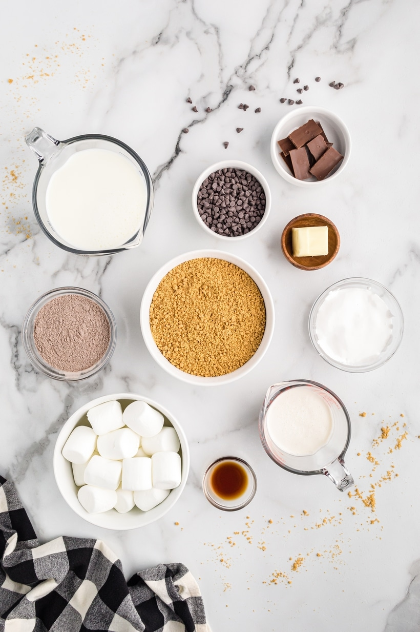 s'mores pudding ingredients