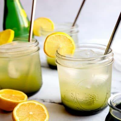 Sparkling Ginger Matcha Lemonade