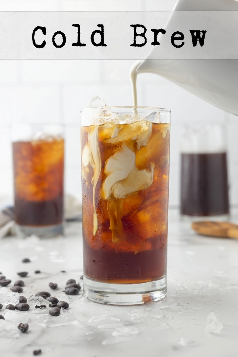making cold brew with cream