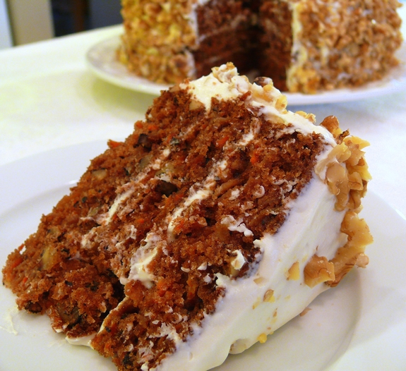 Triple Layer Carrot Cake With Fluffy Vanilla Frosting