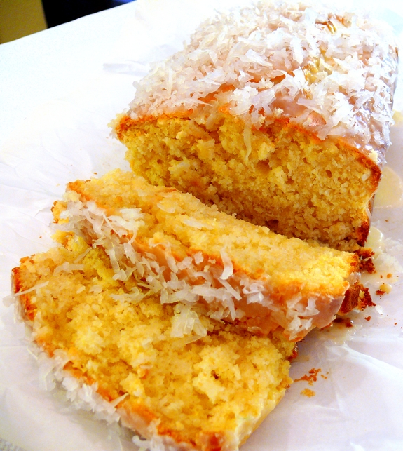 This COCONUT-LEMON LOAF with COCONUT-LEMON GLAZE is the perfect cake. It's exceptionally moist, tender, delicate, and bursting with lemon and coconut flavor.
