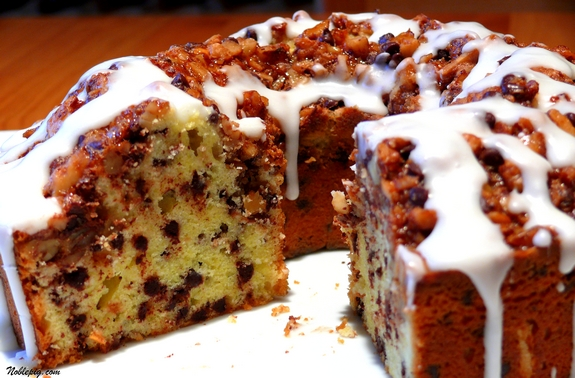 Sour Cream Chocolate Chip Coffee Cake