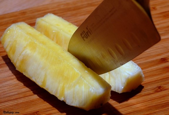 how to cut a pineapple into spears videos