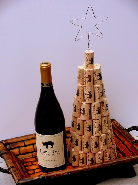 how to make a wine cork christmas tree - How To Make A Wine Bottle Christmas Tree