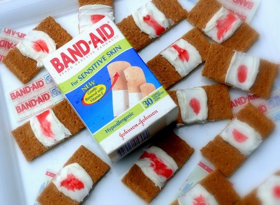 Bloody Band Aid Cookies