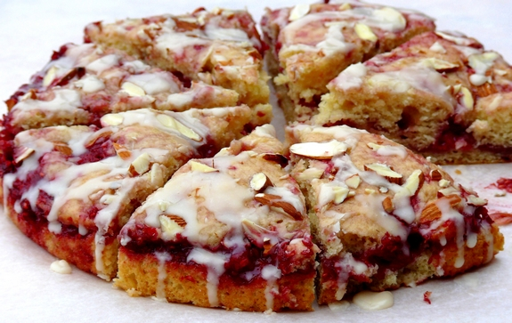 Raspberry Almond Coffee Cake Video